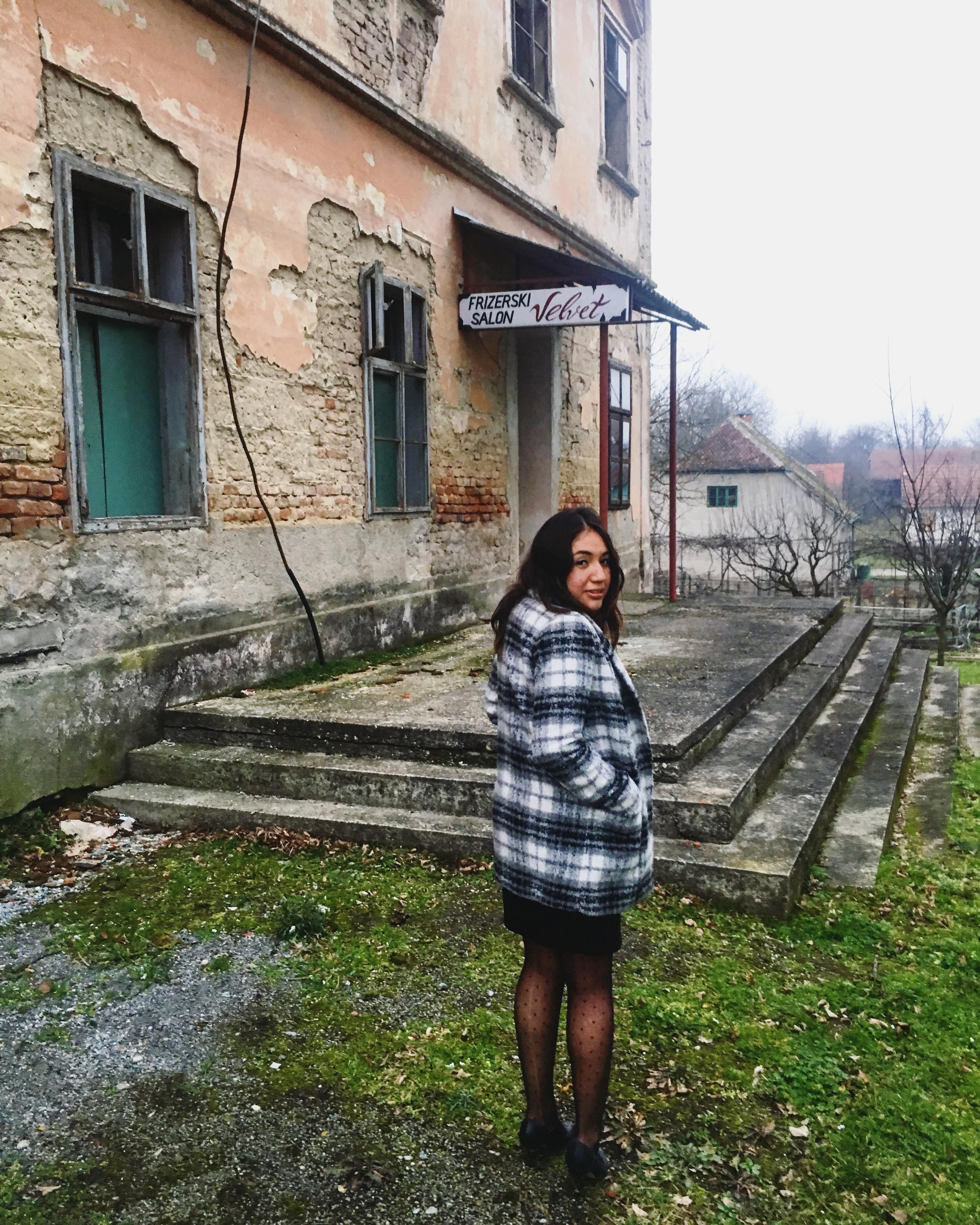 Pam in Croatia at a Funeral